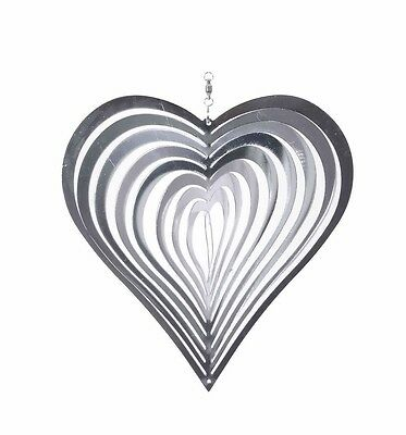 20cm Steel Heart Windspinner Suncatcher Ornament for the Home or Garden
