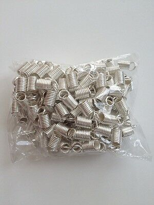 New! 150 pcs Crimp Fasteners Silver Plated Coil End 9mm X 5mm Jewelry #61 Cord