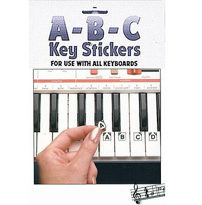 HAL Learn to Play ABC Stickers for Yamaha Casio Portable Grand Piano Keyboard