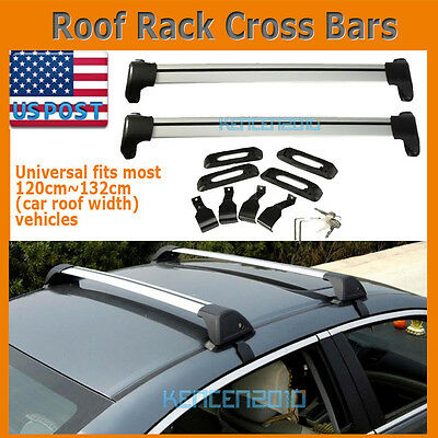 A Pair of Aluminum Car Top Luggage Cargo Roof Rack Cross Bar Carrier System new