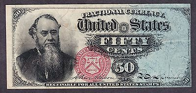 "US 50c Fractional Currency ""Stanton"" 4th Issue FR 1376 VF-XF -002"