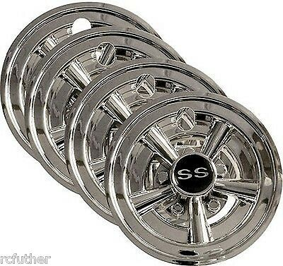 Golf Cart Stock 8 Inch Wheel Covers Set Of 4 Deep Dish SS WHEEL COVERS HUBCAPS A