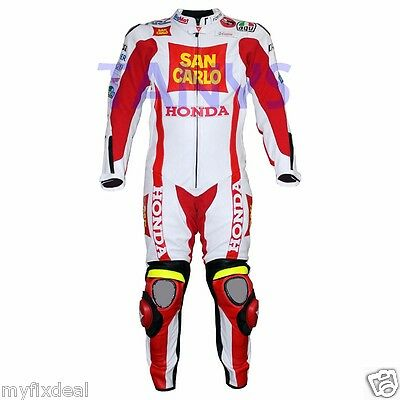 Marco Simoncelli Honda SanCarlo Motogp 2011 Motorbike Racing Leather Suit