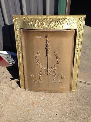 M 53 Antique Cast-Iron Fire Front With Cover Torch Design