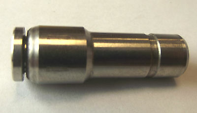 10mm Stem to 6mm push-fit,stainless steel, 316 spec,Viton seals