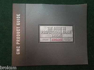 Mint 2000 Gmc Product Guide Full Line Sales Brochure Original (Box 437)