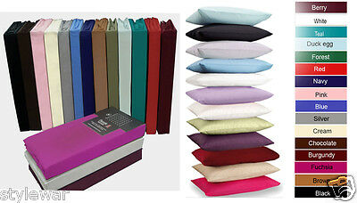 New Fitted Sheet Valence Plain Percale Sheets Single Double Super King All Sizes