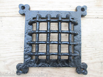 cast iron Medieval door window glass bullion/aperture grille cover Period home