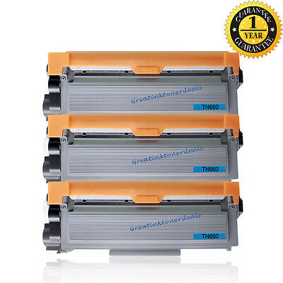 3 High TN660 For Brother TN660 Toner Cartridge HL-L2320D L2340DW L2360DW L2380DW