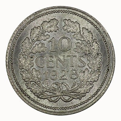 Netherlands 1928 10 Ten Cent Coin Choice UNC