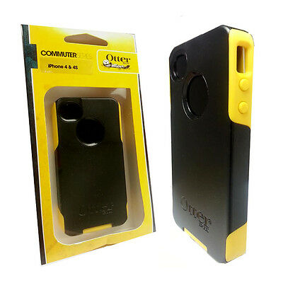 New in box Otterbox Commuter Series Case For Apple iPhone 4 4S - Black Yellow