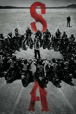 Sons of Anarchy - SOA Circle POSTER 60x90cm NEW * Jax SAMCRO Bike Gang gather
