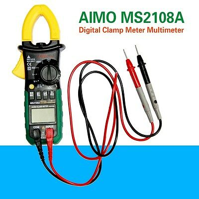 AIMO MS2108A Digital Clamp Meter Multimeter AC DC Current Volt Tester UK