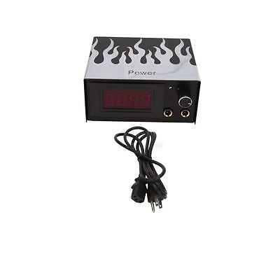 Pro LCD Digital Flame Tattoo Power Supply Black Color for Needle Machine Kit