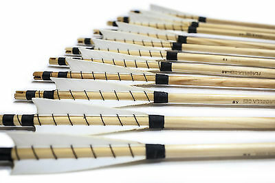 FLAGELLA DEI 12x MEDIEVAL ARROWS, SELECTED, SPINED, WOODEN SHAFTS, TRAD. LOOKING