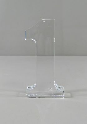 Baccarat Crystal NUMBER 1 Paperweight  Excellent