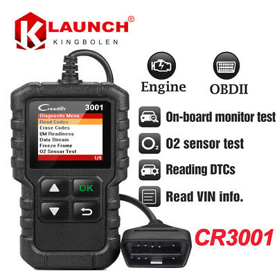 OBDII Function Code Reader Scanner OBD2 EOBD Diagnostic tool Launch CReader 3001