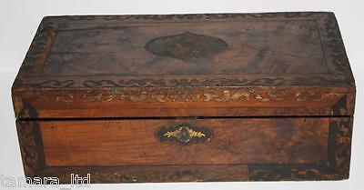 Antique Victorian Marquetry Rosewood Slope Writing Box - FREE DELIVERY [PL717]