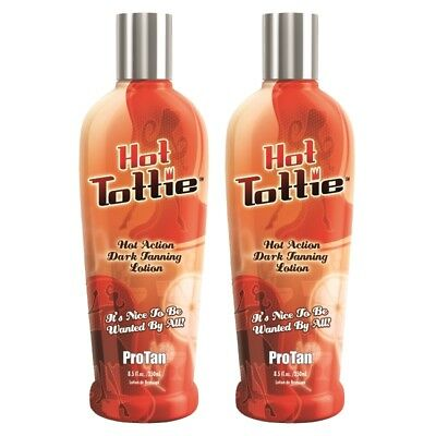 2 Pro Tan HOT TOTTIE Sunbed Tanning Lotion Cream 250ml