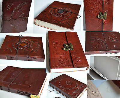Hand Made Paper Journal Notebook Diary Leather Vintage Covered Traditional India