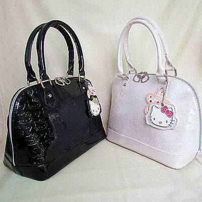 HelloKitty Handbag Tote  Shoulder Bag 2015  New Black White Patent Leather