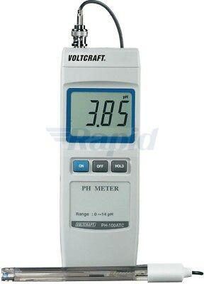 Voltcraft PH-100ATC pH Meter 0 to 14pH - Resolution of 0.01pH