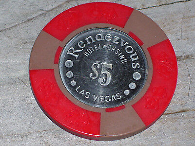 $5 Vintage Gaming Chip From The Rendezvous Casino Las Vegas