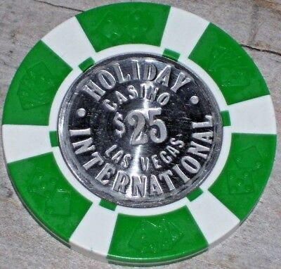 $25 Vintage 1St Edt Gaming Chip From The Holiday International Casino Las Vegas