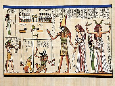 Print Painting Ancient Egyptian Heiroglyphics Horus Thoth Anubis Mural Lfmp0018