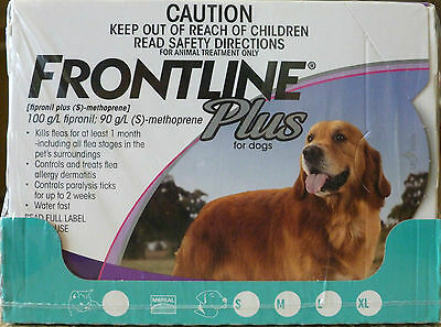 Frontline Plus 6 Pack For Dogs 45 - 88 lb - Fast Shipping = 1 day handling