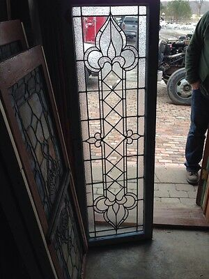 Sg 191 Bevels And Arrows Stainglass Window Transom Antique