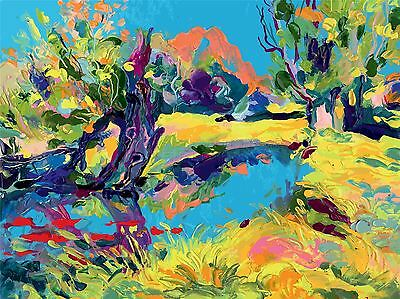 ART PRINT PAINTING DRAWING ABSTRACT IMPRESSION FOREST TRAIL TREES LFMP0901