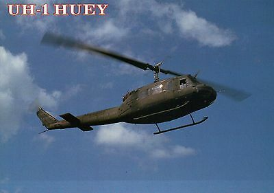UH-1 Huey, U.S. Army Tactical Transport Helicopter, Aircraft - Military Postcard