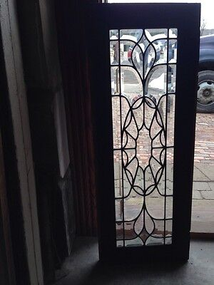 Sj 196 Very Busy All Beveled Glass Antique Spiderweb Transom