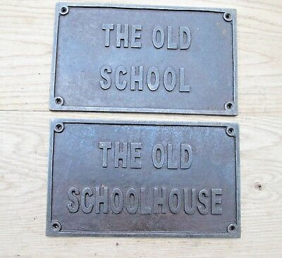 "10"" X 8"" Cast Iron Heavy Plaque Sign For Door Gate Garden House Home Name"