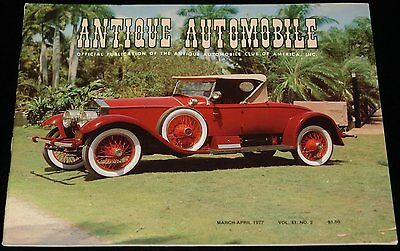 MARCH-APRIL 1977 ANTIQUE AUTOMOBILE 1925 SPRINGFIELD ROLLS-ROYCE SILVER GHOST