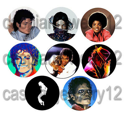 8 piece lot of Michael Jackson pins buttons badges