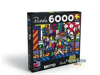 Romero Britto Family Puzzle 6000 Pcs 5 Ft & 3.4 Ft  Shipping From Usa