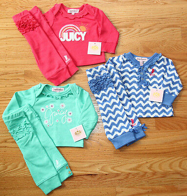 Juicy Couture Baby Girl 2 Piece Loungewear Set~Pick from Blue/White, Green, Pink