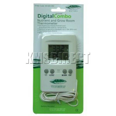 Grow Tent Room Kit Digital Combo Probe Thermometer Temperature LCD Hydroponic