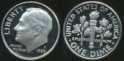 United States, 1993-S Dime, Roosevelt - Proof