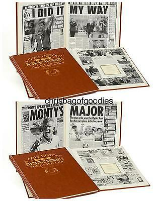 PERSONALISED GOLF NEWSPAPER Book History Gifts Present of Memorabilia for fan