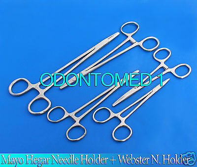 5 Assorted Mayo Hegar Needle Holder +Webster N.holder Surgical Instruments