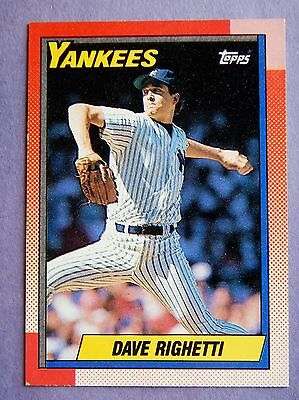 Dave Righetti 1990 #160 Baseball Card (Yankees)