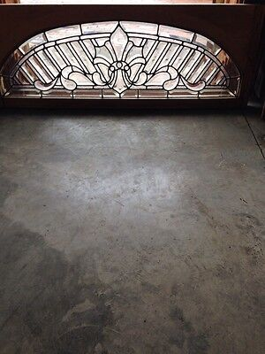 Sg 206 1880S Amazing Beveled Glass Transom Window
