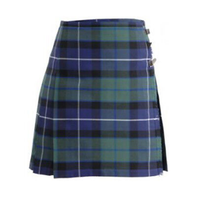 Ladies Mini Scottish Kilt Skirt 3 Tartans All Sizes