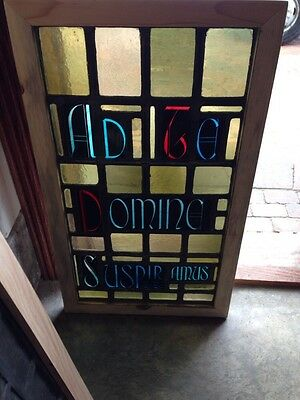 Antique Religious Stainglass Window Looks To Be Maybe Hungarian Or Slovak Sg 213
