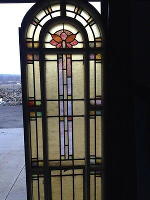 Number Two Of Youngstown's Finest Antique Stainglass Windows Tall In Woodframe