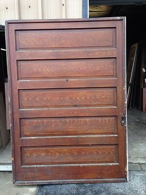 Cm 20 Antique 5' X 7' High Raised Panel Pocket Door