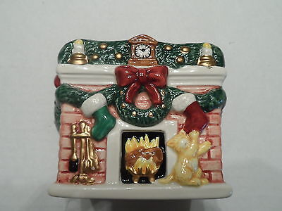 Candle holder Fitz and Floyd ceramic Votive Christmas Holiday Home Decor